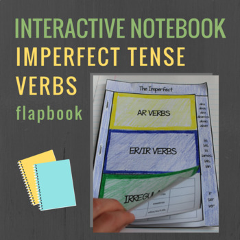 Spanish Interactive Notebook Verbs Flapbook (The Imperfect)