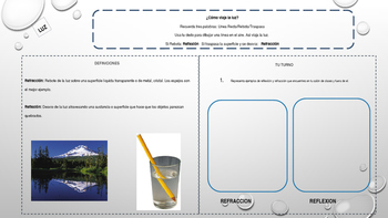 Spanish Interactive Notebook about Energy, Force and Motion