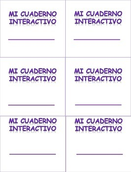 Spanish Interactive Notebook labels