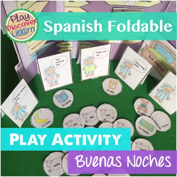 Spanish Interactive Notebook or Folder Activity Buenas Noches