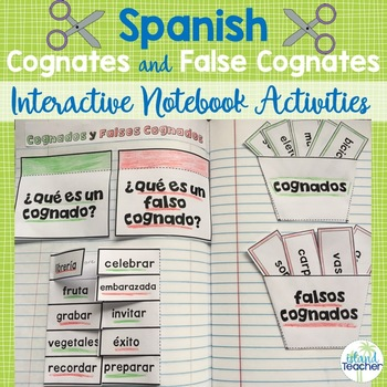 Spanish Interactive Notebook Cognates and False Cognates