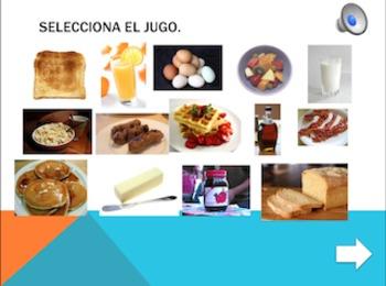 Spanish Interactive Presentation: Breakfast Foods