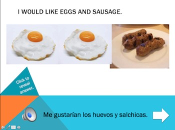 Spanish Interactive Presentation: Breakfast Foods