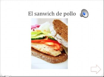 Spanish Interactive Presentation: Lunch and Dinner Foods