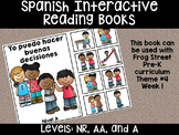 Good Choices Spanish Interactive Reading Books Can Be Used With Frog Street