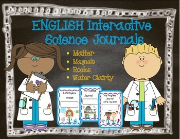 Spanish Interactive Science Journals for K/1st: Matter, Ma