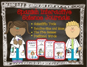 Spanish Interactive Science Journals K/1st: Tools, Size/Mass, 5 Senses & more!