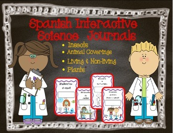 Spanish Interactive Science Journals for K/1: Insects, Cov