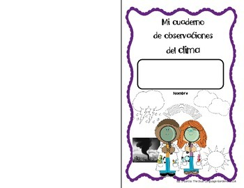 Spanish Interactive Science Journals for K/1: Earth/Sky, Seasons, Weather & more