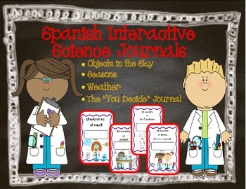Spanish Interactive Science Journals for K/1: Earth/Sky, S
