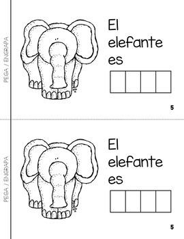 "Spanish Interactive Sight Word Reader ""Animales de color GRIS"""