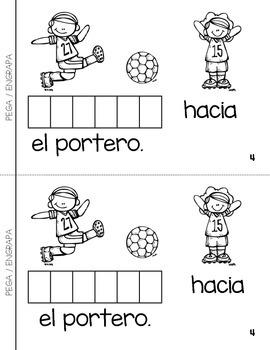 """Spanish Interactive Sight Word Reader """"CORRES jugando al fútbol"""""""
