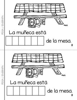 """Spanish Interactive Sight Word Reader """"DEBAJO de la mesa"""""""