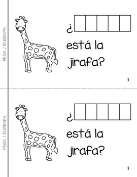 "Spanish Interactive Sight Word Reader ""¿DÓNDE están los animales?"""