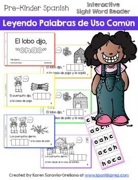 "Spanish Interactive Sight Word Reader - El lobo dijo, ""CHAO"""""