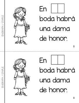 "Spanish Interactive Sight Word Reader ""En MI boda habrá"""