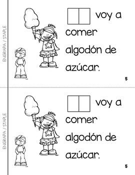 """Spanish Interactive Sight Word Reader """"Hoy NO voy al parque de atracciones"""""""