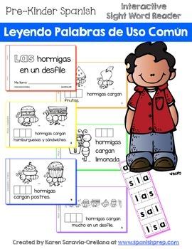 """Spanish Interactive Sight Word Reader """"LAS hormigas en un"""