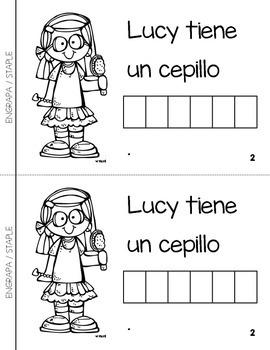 """Spanish Interactive Sight Word Reader """"Lucy tiene un vestido ROSADO"""""""