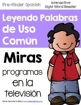 "Spanish Interactive Sight Word Reader ""MIRAS programas en"