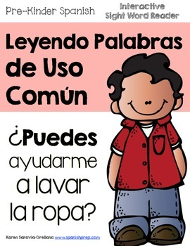 """Spanish Interactive Sight Word Reader """"¿PUEDES ayudarme a"""