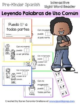 "Spanish Interactive Sight Word Reader ""Puedo IR a todas partes"""