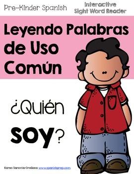 "Spanish Interactive Sight Word Reader ""¿Quién SOY?"""