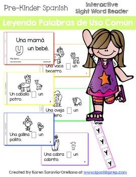 """Spanish Interactive Sight Word Reader """"Una mamá Y un bebé"""""""