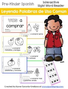 "Spanish Interactive Sight Word Reader ""VAS a comprar"""