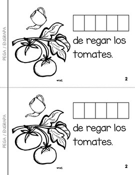 """Spanish Interactive Sight Word Reader """"VENGO de trabajar en el jardín"""""""