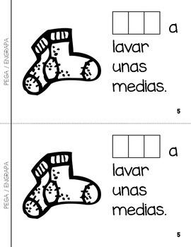 "Spanish Interactive Sight Word Reader ""VOY a lavar la ropa"""