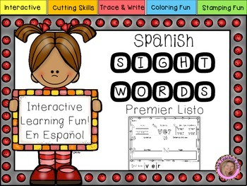 Spanish Interactive Super Sight Words {List 1}