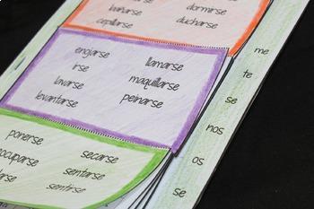 Spanish Interactive Verbs Flapbook (Reflexive Verbs)