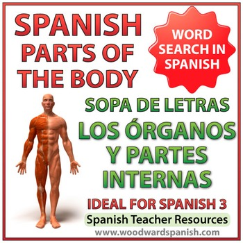 Spanish Internal Parts of the Body - Word Search