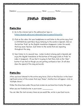 Spanish Internet activity: Yabla Spanish