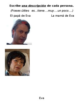Spanish Interpretive Listening - La Familia de Eva