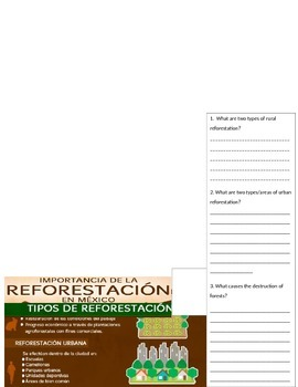 Spanish Interpretive Reading Activities Ecology Environment Nature
