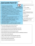 Spanish Interpretive Reading Help Environment and Save Water