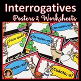 Spanish Classroom Decor - Interrogative Posters and Worksheets