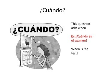 Spanish Interrogative Words Presentation