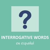 Spanish Interrogative Words Printable Posters or PowerPoin