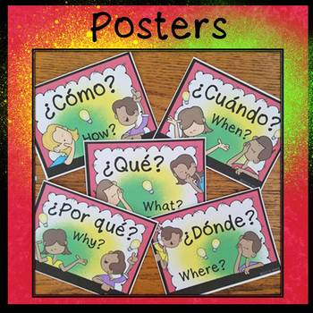 Spanish Interrogative Words (Worksheets, Conv. Cards & Posters)