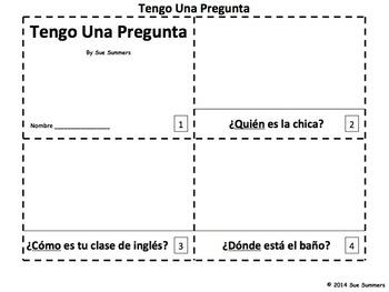 Spanish Interrogatives 2 Emergent Reader Booklets - Tengo Una Pregunta