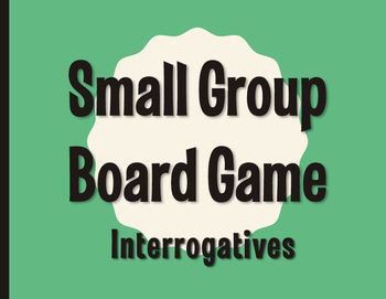 Spanish Interrogatives Board Game