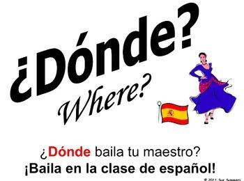 Spanish Interrogatives Bundle of 7 Items - Presentation, Worksheets, and More!