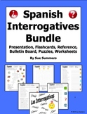 Spanish Interrogatives Bundle - Presentation, Worksheets, Puzzles, and More!