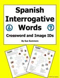 Spanish Interrogatives Crossword and Image IDs Worksheet