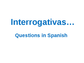 Spanish Interrogatives, Fly swatter game, matamoscas, bull