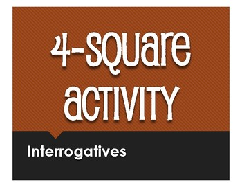 Spanish Interrogatives Four Square Activity