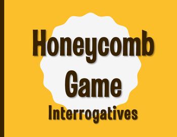 Spanish Interrogatives Honeycomb Partner Game